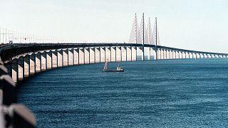 Die Brücke über den Öresund im Jahr 2000