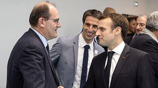 Archives : Jean Castex et Emmanuel Macron à Créteil, le 9 janvier 2019