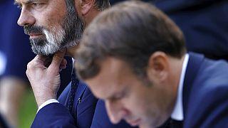 A francia miniszterelnök, Edouard Philippe és az elnök, Emmanuel Macron