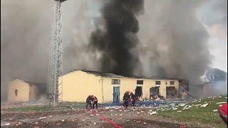 Sakarya'da havai fişek deposunda patlama: En az 41 yaralı