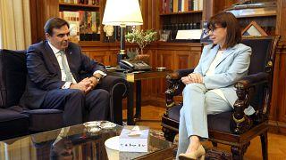 Ελλάδα: Συνάντηση της Προέδρου της Δημοκρατίας με τον Μαργαρίτη Σχοινά