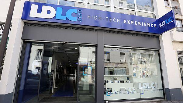 Une boutique de l'enseigne LDLC dans le 15e arrondissement de Paris