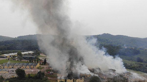 Füst a robbanássorozat után