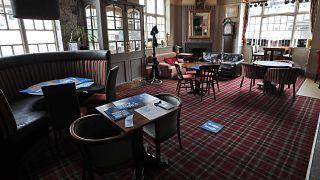 L'interno di un pub di Londra