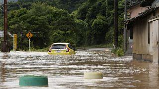 Überschwemmung in Yatsushiro