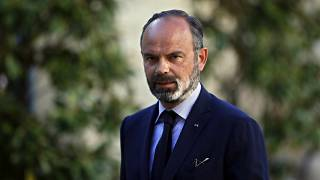 In this May 20, 2020 file photo, former French Prime Minister Edouard Philippe arrives for a meeting in Paris