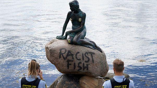 مجسمه پری کوچک دریایی در دانمارک هم «برچسب نژادپرستی» خورد