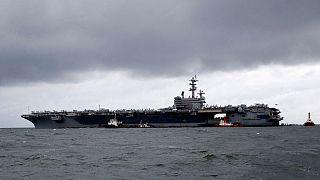 ارسال دو ناو هواپیمابر آمریکا به دریای جنوبی چین همزمان با تمرینهای نظامی پکن