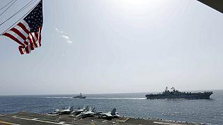 ABD'den Çin'e gövde gösterisi: 2 Amerikan uçak gemisi Güney Çin Denizi'nde askeri tatbikat yaptı