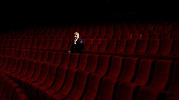Ein fast leerer Kinosaal in Karlsbad