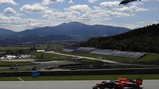 Red Bull driver Alexander Albon of Thailand steers his car during the third practice session at the Red Bull Ring racetrack in Spielberg, Austria, Saturday, July 4, 2020.