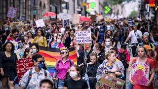 Thousands march in Paris to celebrate gay pride and protest police violence