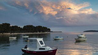 Boote in Fazana (Kroatien)