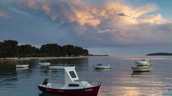 Fazana kikötője, Horvátország