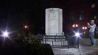 مجسمه کریستوف کلمب در بالتیمور به دست معترضان آمریکایی تخریب شد