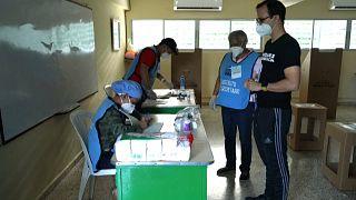 Centro de votación en la República Dominicana