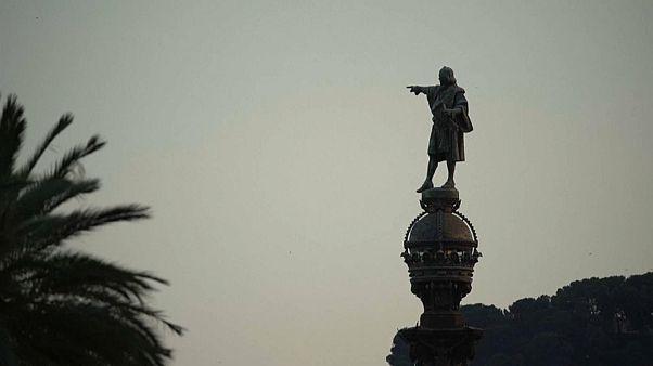 ¿Debería retirarse la estatua de Cristóbal Colón de Barcelona?