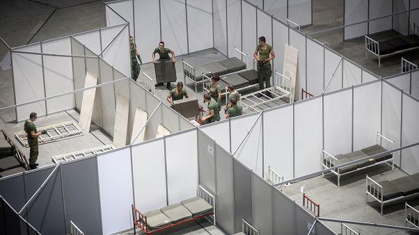 Serbian military opens field hospital amid coronavirus spike