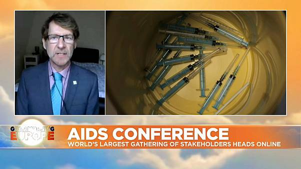 Dr. Anton Pozniak, president of the International AIDS Society (IAS), speaking to Euronews ahead of the 23rd International AIDS Conference, July 6, 2020
