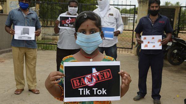 حملة ضد تيك توك في الهند