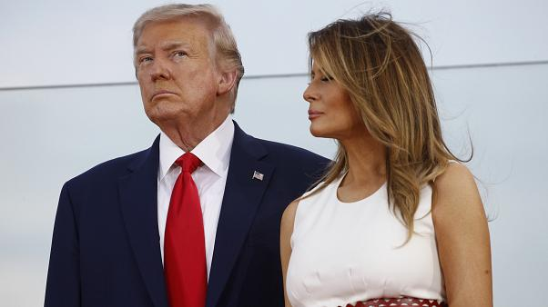 First Lady Melania Trump mit ihrem Mann Donald bei den Feierlichkeiten zum 4. Juli 2020 in Washington D.C. .