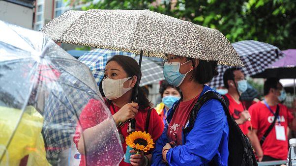 طلاب جامعة في بكين