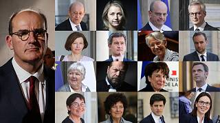 Le Premier ministre français Jean Castex et ses ministres