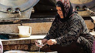 Bir kadın sığınmacı