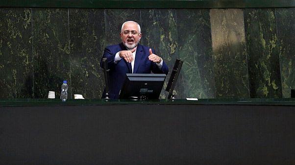 وزیر امور خارجه ایران در مجلس