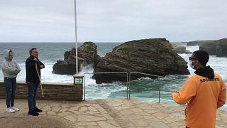 Playa de As Catedráis en la localidad española de Ribadeo
