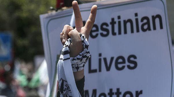 تظاهرات زنان در غزه علیه طرح الحاق سرزمینهای کرانه باختری به اسرائیل