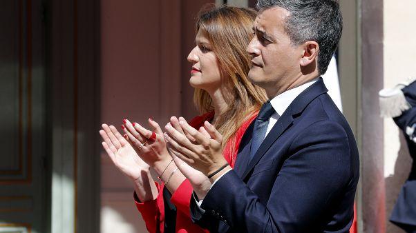 Gérald Darmanin et Marlène Schiappa mardi 7 juillet, au ministère de l'Intérieur, Paris