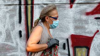Belgrád belvárosa július elején