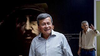 July 3, 2019 file photo - Colombian National Liberation Army commanders Pablo Beltran