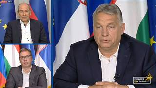 Janez Janša, Alekszandar Vucsics és Orbán Viktor