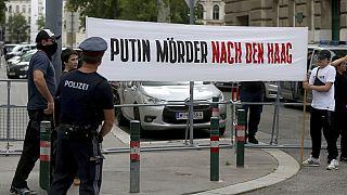En Autriche, des Tchétchènes protestent contre l'assassinat d'un des leurs