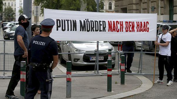 Proteste cecene anti-Putin a Vienna