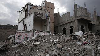 منزل الطفلة بثينة الريمي التي أضحت رمزا للنزاع اليميني، بعد أن دمرته غارة جوية للتحالف بقيادة السعودية على مدينة صنعاء - 2018/08/02