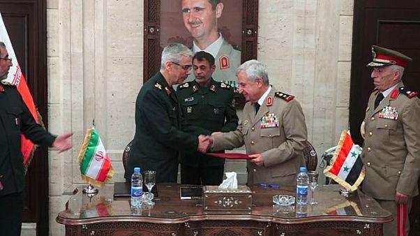 ایران و سوریه توافقنامه همکاری نظامی و امنیتی امضا کردند