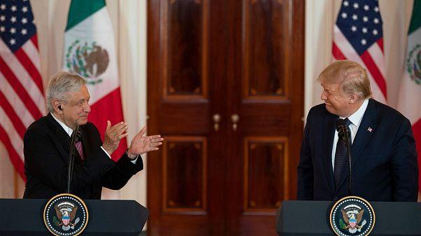 López Obrador y Trump, halagos entre amigos en la Casa Blanca