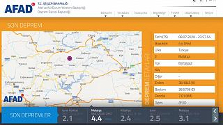 Malatya'da 4,4 şiddetinde deprem