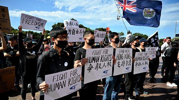 متظاهرون مؤيدون للديمقراطية في هونغ كونغ  في سيدني