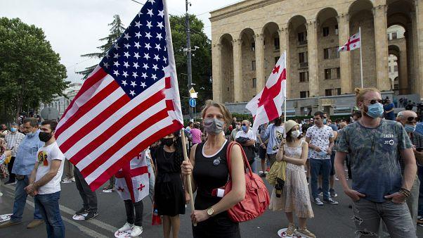 متظاهرون في ولاية جورجيا- الولايات المتحدة