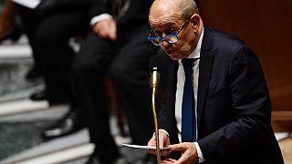 Fransa Dışişleri Bakanı Le Drain Senato'nun Dışişleri Komisyonu'nda konuşma yapıyor
