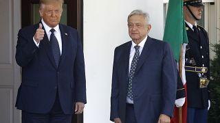 Trump y López Obrador durante su encuentro