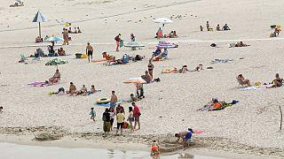H παραλία Rapadoira de Foz πριν το νέο lockdown