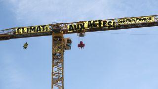 Greenpeace sur le chantier de Notre-Dame de Paris