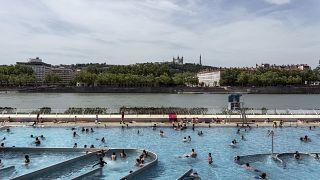 Piscine du Rhône à Lyon (France), le 25 juin 2019