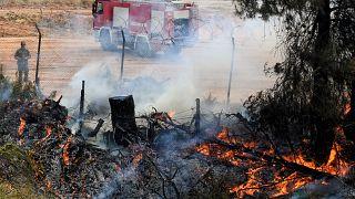 Πυρκαγιά Κεχριές Κορινθίας