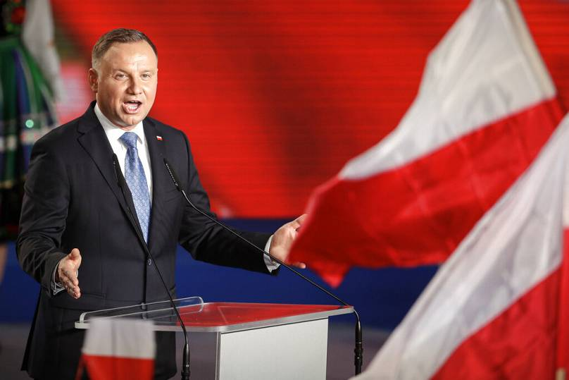 Poland's Duda holds slim lead in presidential election, exit poll suggests
